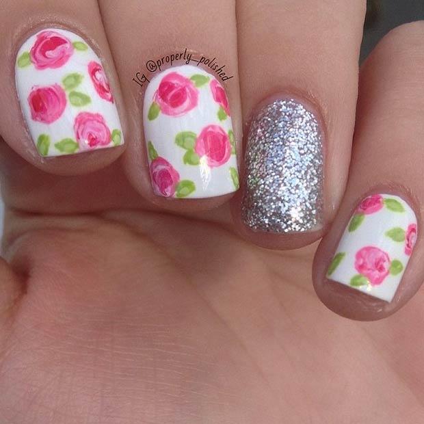 50 Flower Nail Designs for Spring - 50 Flower Nail Designs For Spring – Page 46 – Foliver Blog