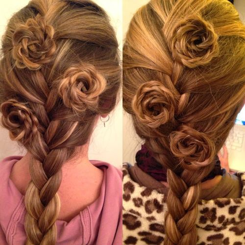 48 sophisticated braided rosettes