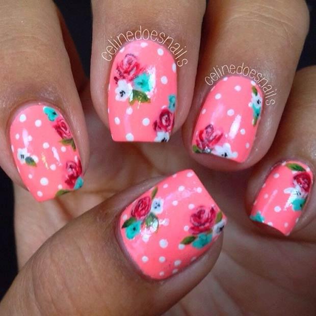 49 Neon Pink + Polka Dot