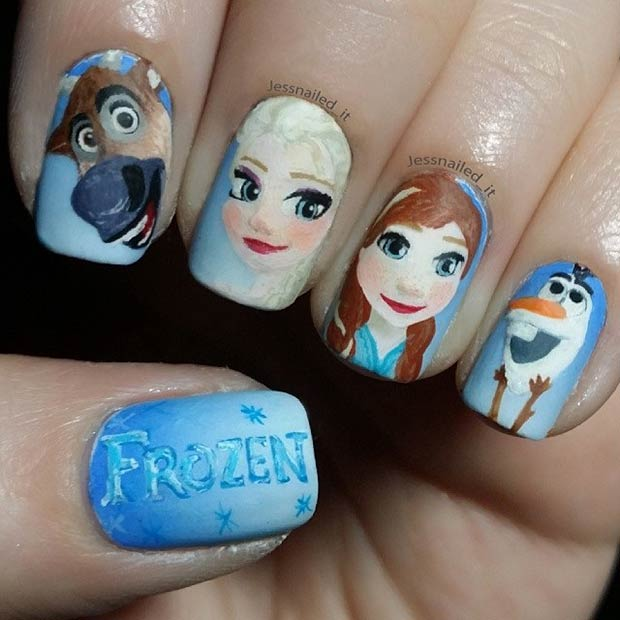 21 Super Cute Disney Nail Art Designs Page 5 Foliver Blog