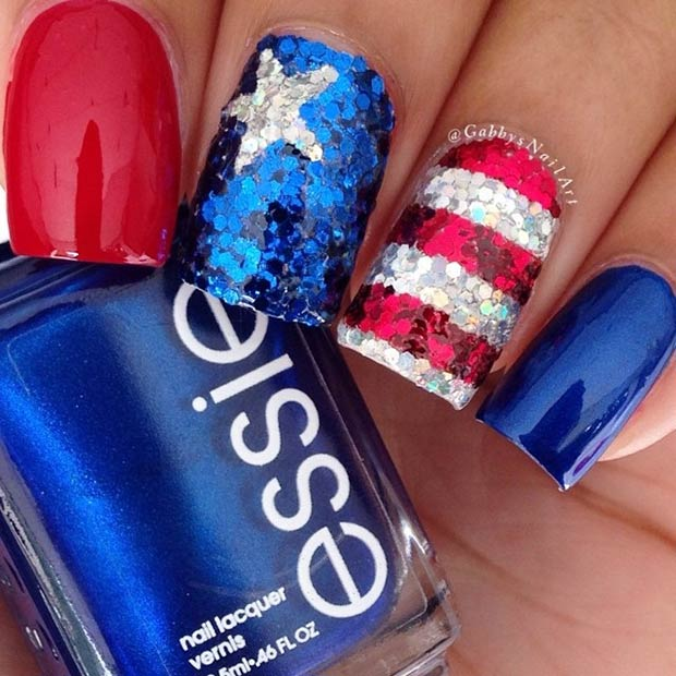 29 Fantastic Fourth of July Nail Design Ideas – Page 5 – Foliver blog