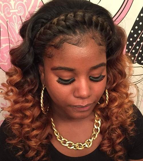 5 braided headband for black women