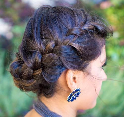 5 crown braid updo