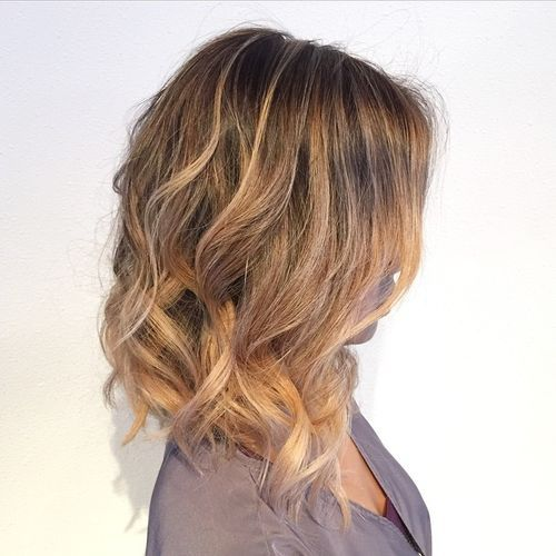 5 long wavy bob with highlights