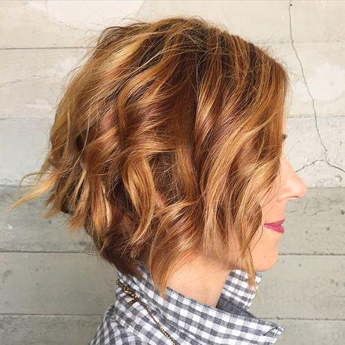 5 messy wavy bob hairstyle