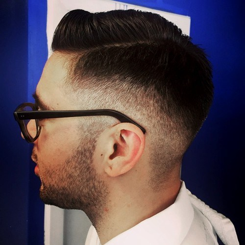 5 side parted face haircut for men