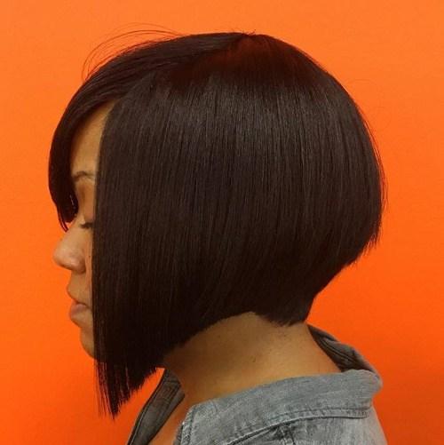 6 angled bob haircut for black women