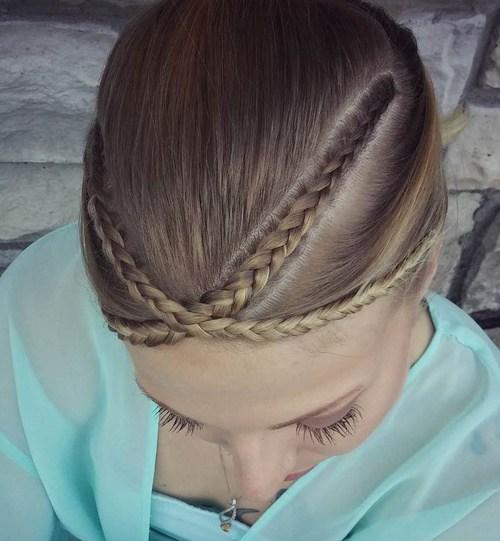 6 braided bangs hairstyle