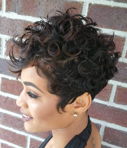 6 curly pixie for black women