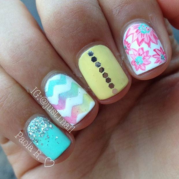 7 Different Patterns Nails