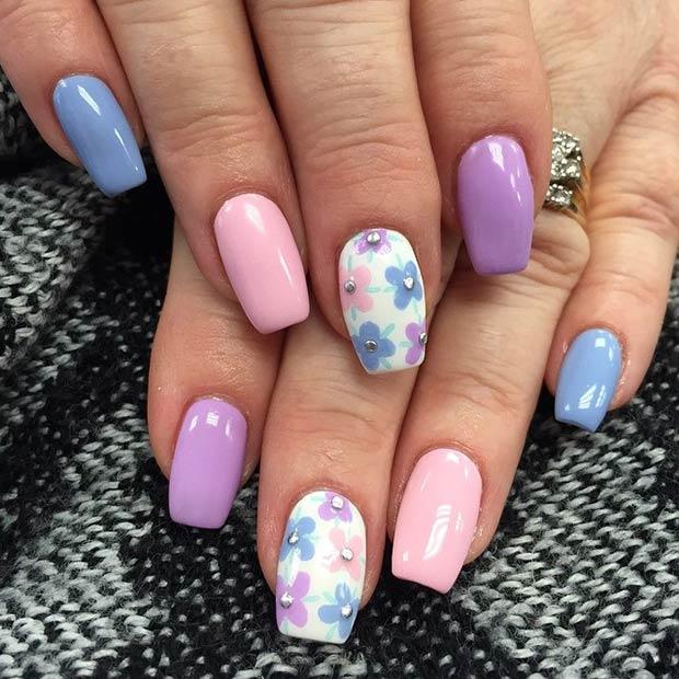 50 Flower Nail Designs For Spring Page 7 Foliver Blog