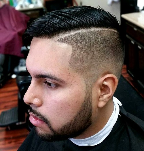 7 half shaved side part hairstyle for men