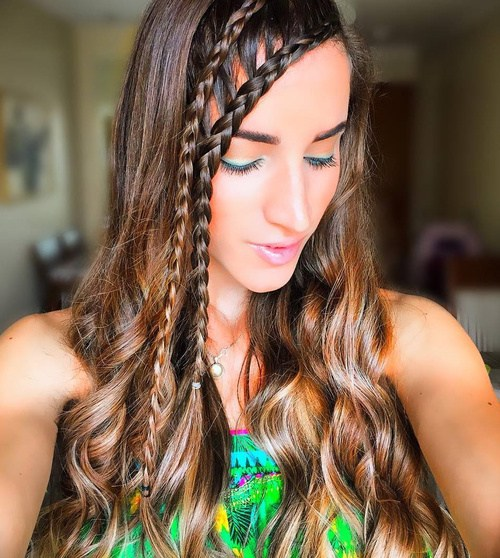 7 two side braids hairstyle for long hair