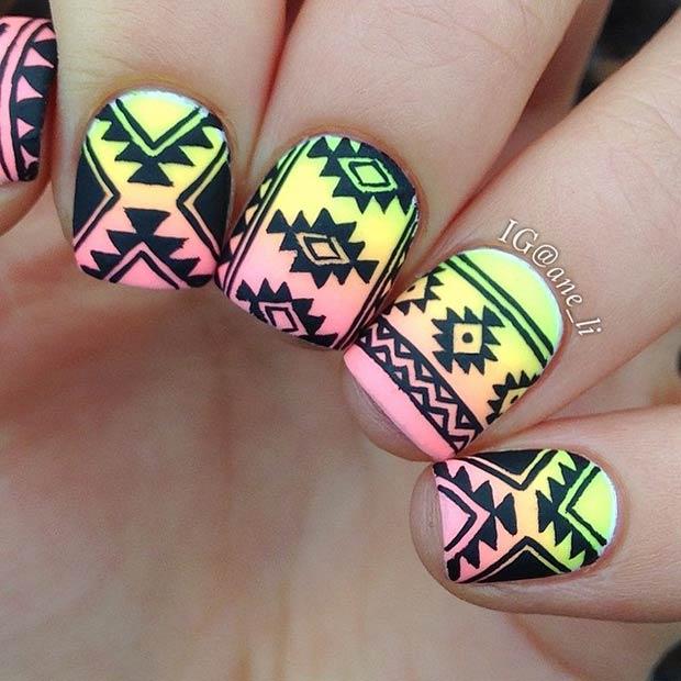 19 Tribal Inspired Nail Art Designs Page 8 Foliver Blog
