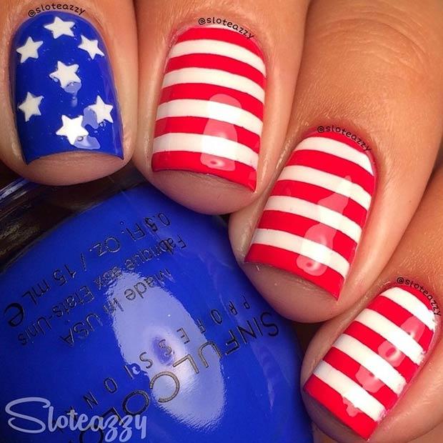 29 Fantastic Fourth Of July Nail Design Ideas Page 8 Foliver Blog