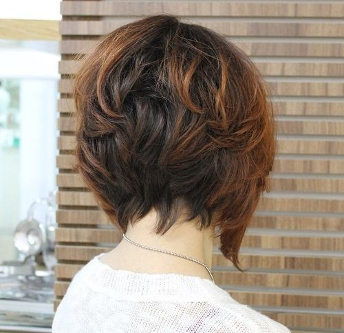 8 short layered bob with highlights