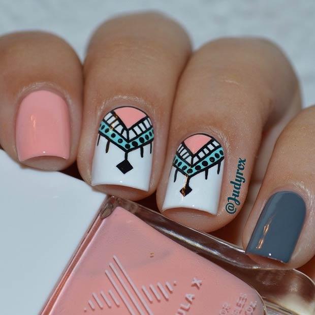 9 Cool Pink, White & Grey Design