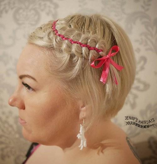 9 braided bangs for short hair