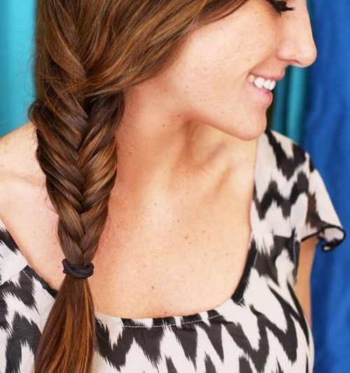 9 fishtail side braid hairstyle