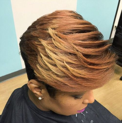 9 short layered haircut for black women