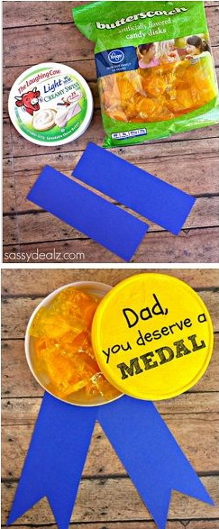 1 DIY Gold Metal Father's Day Gift