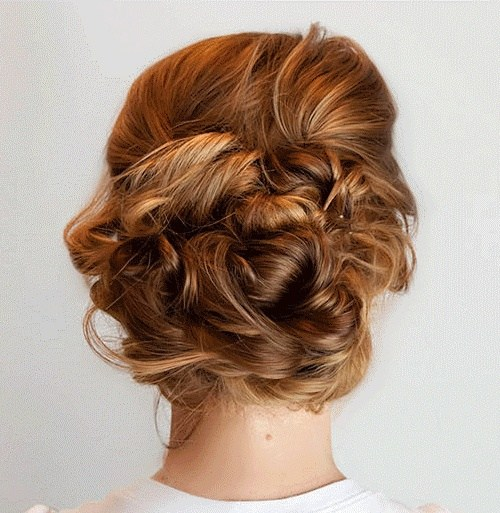 1 sectioned updo with a messy feel