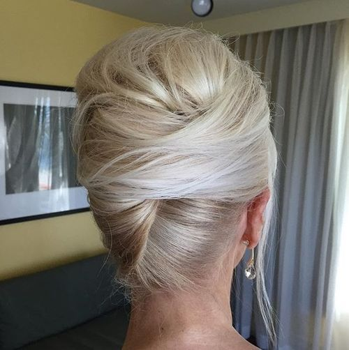 10 blonde french twist with a bouffant