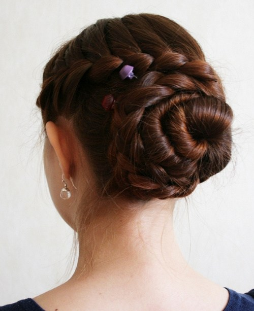 10 braided updo for long thick hair