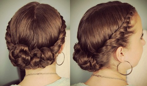 10 twist bun homecoming updo