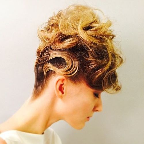 11 creative messy curly updo