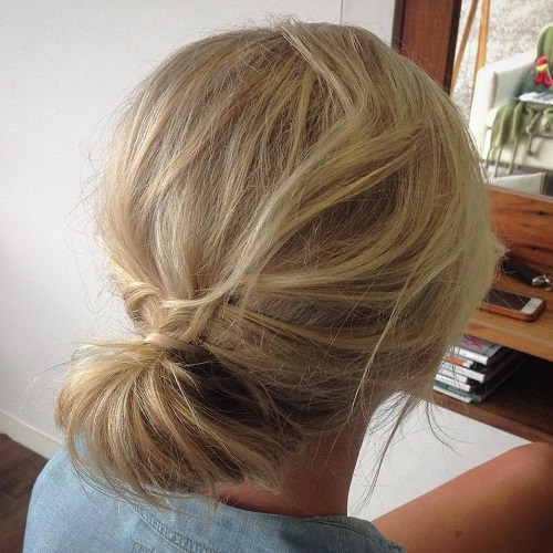 11 simple updo for tousled hair