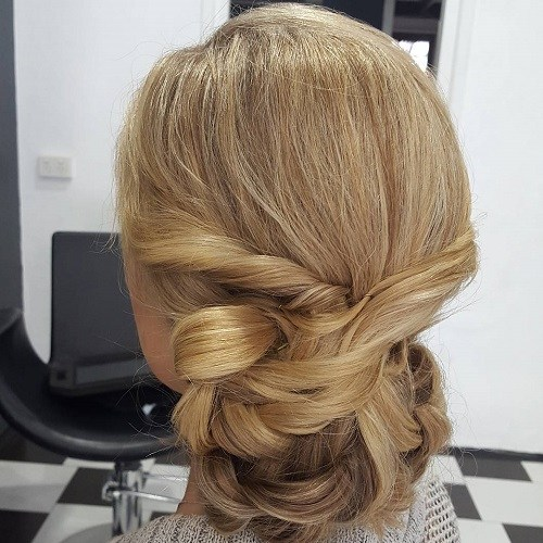 12 twisted chignon for long hair