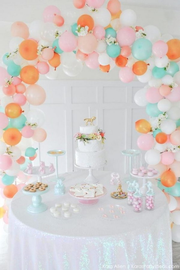 13 Balloon Arch In Pastel Colors