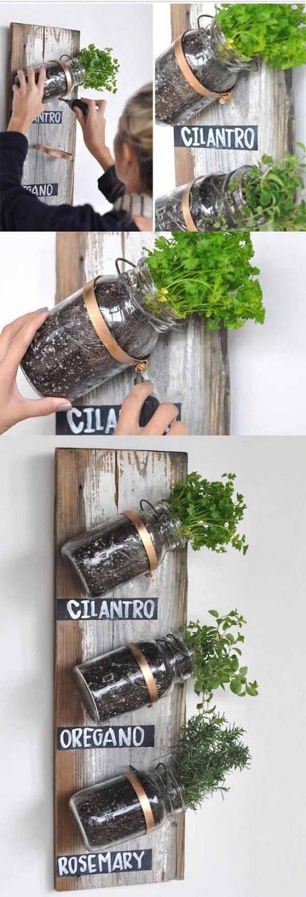 13 DIY Mason Jar Herb Garden