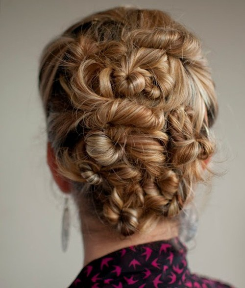 13 twist pin updo