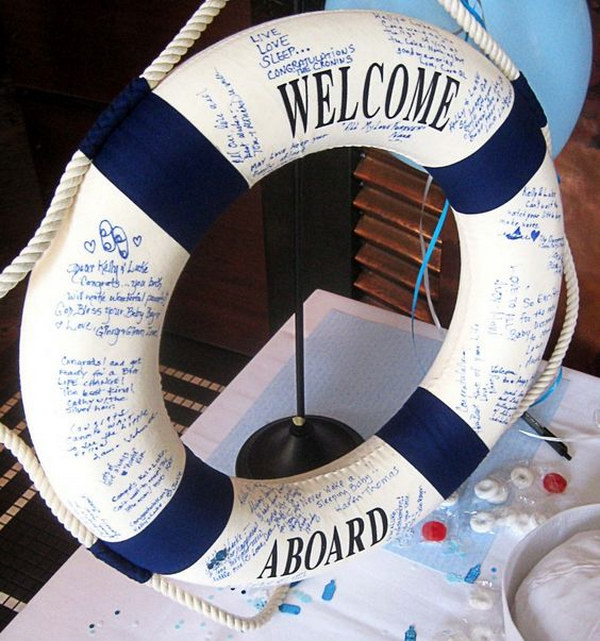 14 Nautical Theme Baby Shower Guest Book