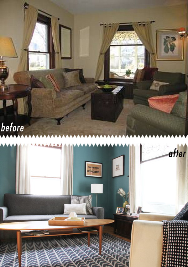 15 Living Room Makeover From Cigarette Yellow To Teal Blue