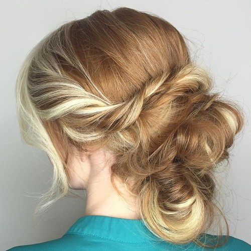 15 twisted messy updo