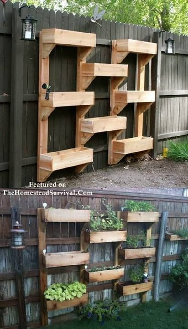 16 DIY Vertical Garden From Pallets