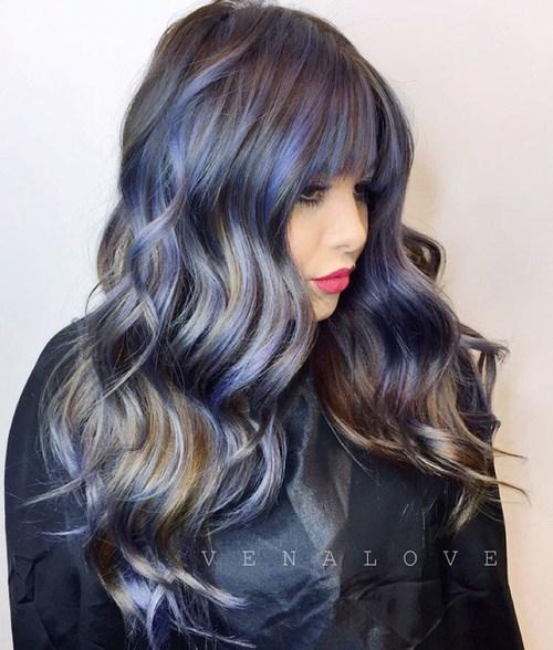 16 pastel purple highlights for dark brown hair