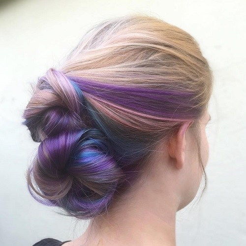 16 two buns updo