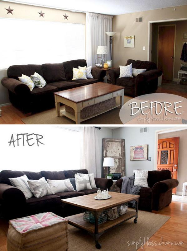17 Industrial Blend Living Room Makeover Reveal