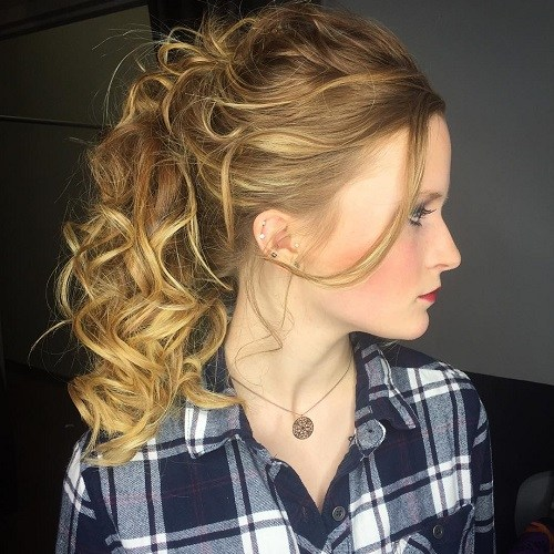 17 curly ponytail for long hair