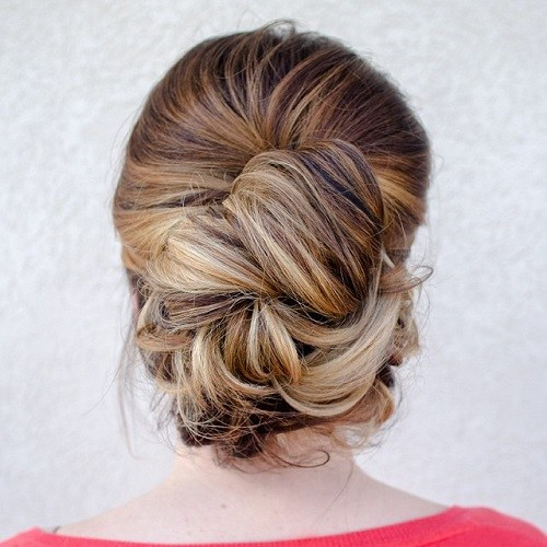 18 casual updo for thick hair