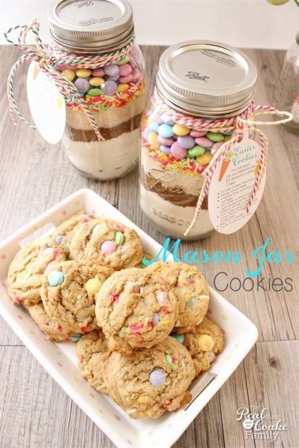 19 Easter Mason Jar Cookie