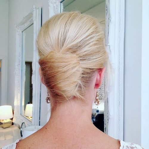 19 blonde formal french twist