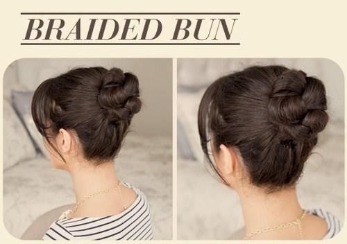 2 braided bun