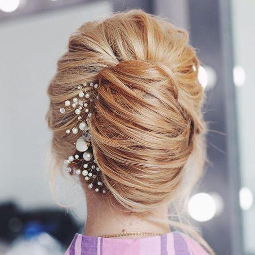 2 bridal blonde french twist updo