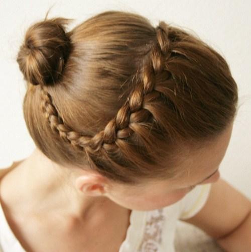 20 ballerina braided updo