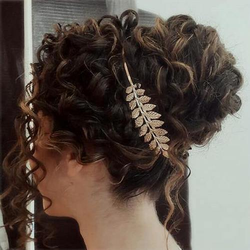 21 chic curly updo